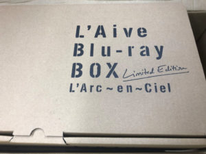 L Aive Blu-ray BOX外箱